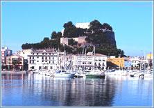 Denia's castle & fishing port