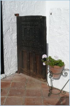 Casita terrace door