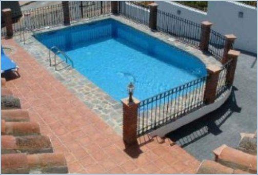 Villa Galvia Pool and Stone Wall