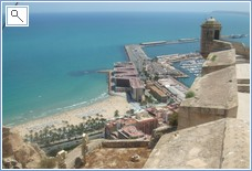 View from Alicante Castle