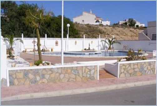 Pool & slope for wheelchair access