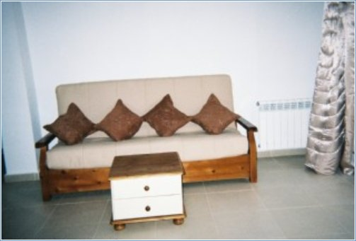 Large couch can be used as bed