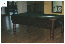 Pool table in Club House