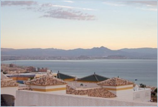 Stunning views from roof solarium