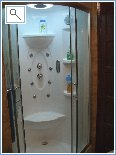 Delux shower cabin with radio