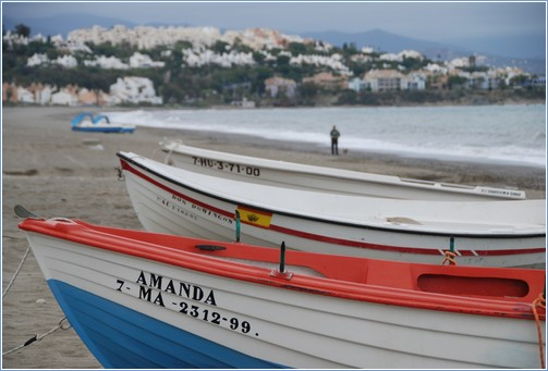 Sabinillas.  local fishing boats  short walk from main port