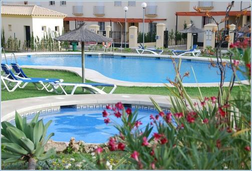 Lush garden / pool area