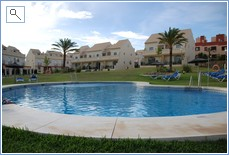 Pool and houses.   Pool 10 metres from from our pergola