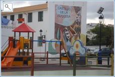 Play area at Castillo.  5 mins away. great fish restaurans