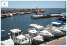 The marina in Villaricos