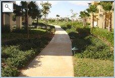 walkway at rear of apartment