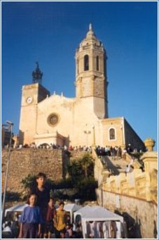 The Church overlooking Sitges