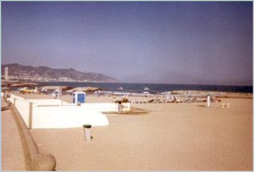 One of the beaches along the Sitges