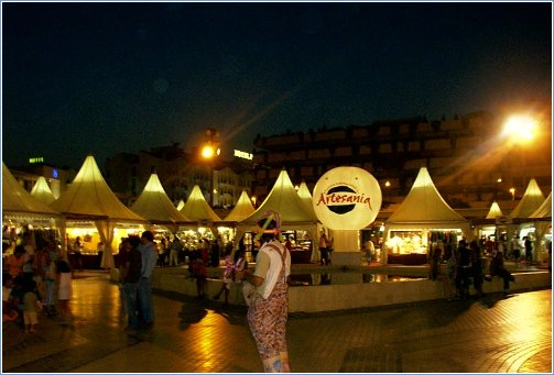 Puerto Banus square at night