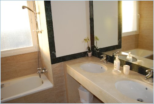Luxury bathroom with twin basins
