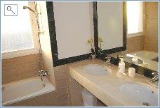 Luxury bathroom with twin basins