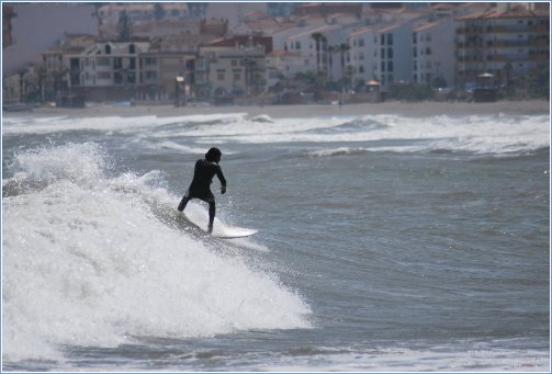 Surfing at Caseras