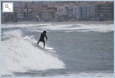 Surfing at Caseras