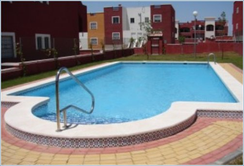 The communal pool