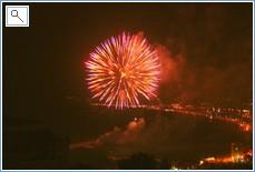 Festive Fireworks over Arenal beach