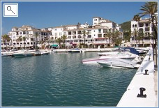 The picturesque Marina of La Duquesa
