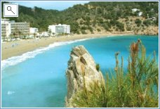 One of many sandy bays in Ibiza