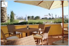 PART OF THE CLUBHOUSE TERRACE OPEN TO ALL FOR MEALS & SNACKS