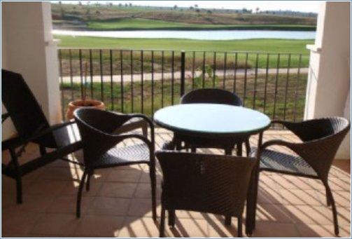 Terraced balcony overlooking Golf