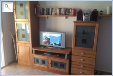 TV, DVD player, CD player. Many DVDs & books available