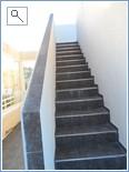 Stairs to solarium / upper terrace