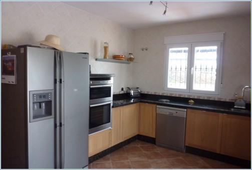 kitchen with american fridge/freezer with on demand ice