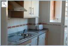Kitchen with fridge freezer, dishwasher