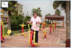 Outdoor gym seafront Sabinillas