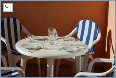 Dining on terrace