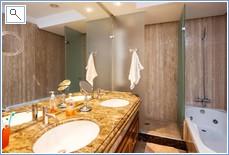 Marble en-suite bathroom