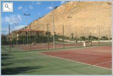 Tennis court near by