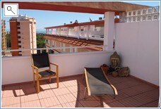 Fully furnished roof top terrace for 6 people