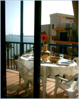 Terrace with Sea View overlooking Swimming Pool - Verdemar 2