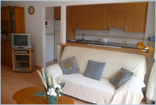 Fully Equipped Kitchen Area & Sat. TV in Lounge  -Verdemar 2