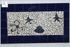 Broken tile art at villa