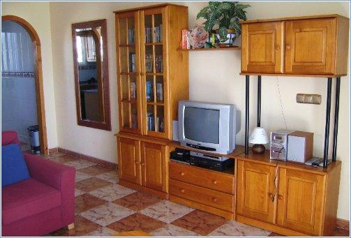 spacious, sunny living room