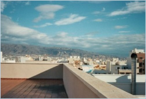 View from Roof terrace of mountains