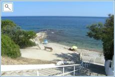 Beach near the villa
