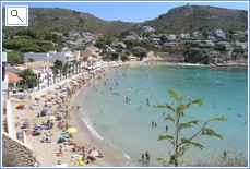 El Portet beach, 900 m from villa