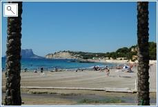 Moraira's fine sandy beach