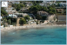 The blue waters of el Portet beach - next to Moraira