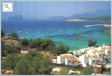 Coastal view of Moraira and el Portet