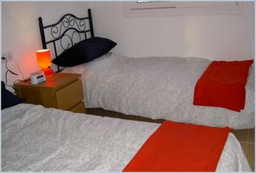 One of the two comfortable bedrooms