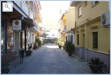 One of many streets in the old part of La Cala Village
