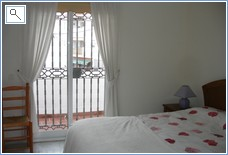 Master Bed room with private balcony, with full Air Con